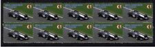 MIKA HAKKINEN STRIP OF 10 MINT F1 LEGEND VIGNETTE STAMPS 3