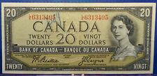 CANADA 20 dollars 1954 Beattie-Coyne Prefix L/E #267
