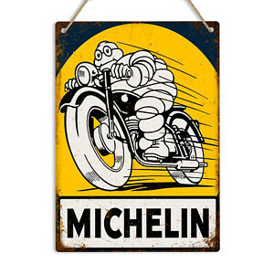 Michelin Man Retro Vintage Metal Tin Wall Sign Plaque Tyres Garage Man Cave Shed