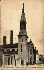 CPA PARIS 20e Nouvelle eglise N.-D. de Lourdes, Rue Pelleport (254851)