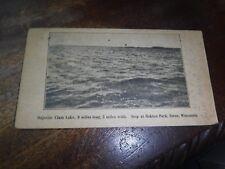 Old Postcard  1922 Siren Wis Majestic Clam Lake Oakton