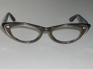 1960's VINTAGE BAUSCH & LOMB MULTI TONE CATS EYE SUNGLASSES FRAMES ONLY