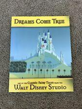 Dreams Come True Walt Disney Classics Fairy Tale Rare Museum Book