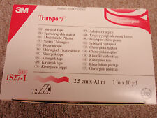 Transpore 3M Surgical Tape 1527-1 Hypoallergenic 12 rolls box