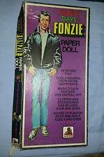 Happy Days FONZIE Paper Doll Set-1976- The FONZ