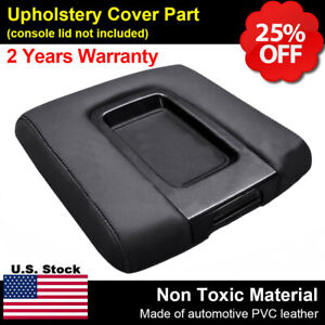 Leather Center Console Lid Armrest Cover For Silverado Chevy GMC Sierra 2014-19