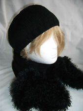 Hand-knitted Beanie Hat and Scarf  – Ref 1292