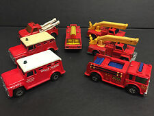 MATCHBOX LESNEY SUPERFAST x7 1970 S Vintage Fire Engines camion Emergency Diecast