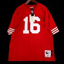 100% Authentic Joe Montana Mitchell & Ness 49ers NFL Jersey Size 52 2XL