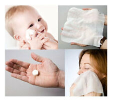 50pcs MAGIC COMPRESSED COIN TISSUE Sanitary Disposable Face Towel, Baby Wipes