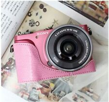 CIESTA Leather Camera Body Case Cover Body Jacket For Sony NEX-3N - Pink