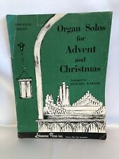 Organ Solos For Advent And Christmas Vintage Sheet Music 1963 Richard Warner