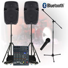 Complete Band Live PA Sound System 800W 8-Ch Mixer Speakers DJ Studio Rehearsal