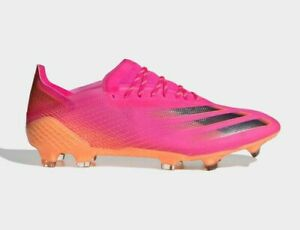 adidas Soccer X GHOSTED.1 FIRM GROUND BOOTS FW6897 Shock Pink Screaming Orange
