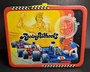 Vintage Racing Wheels Metal Lunch Box
