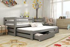 Etagenbett Kinderbett Hochbett KUBA Stockbett mit Matratzen 80x180 ÖKO lackiert