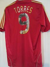 España 2008-2009 Hogar Camiseta De Fútbol Torres 9 de tamaño grande/40568