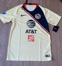 Nwt Nike Club America Home 2018 Yellow Soccer Jersey Size Small