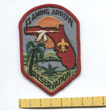 Very Old  Flaming Arrow Scout Reservation PatchInventory Control #  (  8008  )