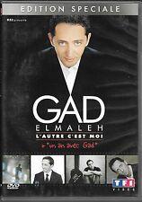 2 DVD ZONE 2 SPECTACLE--GAD ELMALEH--L'AUTRE C'EST MOI + UN AN AVEC GAD