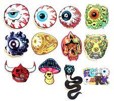 Mishka NYC Keep Watch Eyeball Logo Guitar Skateboard Laptop Luggage Sticker Set