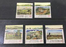 Australian 1989 Pastoral Era set of 5 Square Sheet stamps used
