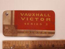 1956-60 VAUXHAUL Series 2 -Original Color Chip Deck-Exterior Paint Samples (ENG)
