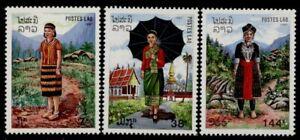 Laos 839-41 MNH Regional Costumes