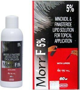Morr-F (Minox/Fin.) 5%/0.1% (60mL) Hair regrowth + DHT Blocker solution fast shp