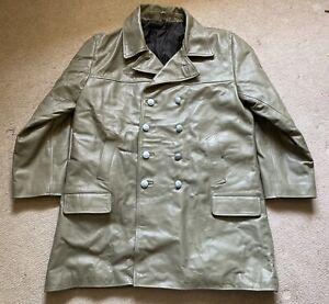 WW2 German Navy Naval Kriegsmarine Grey Leather U Boat Deck Jacket Coat