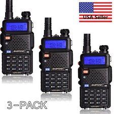 3x TOP!! Baofeng UV-5R 136-174/400-520M Dual-Band Two-way Ham Radio Transceiver
