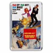 RETRO JAMES BOND 007  - 'ON HER MAJESTY'S SECRET SERVICE' JUMBO FRIDGE MAGNET