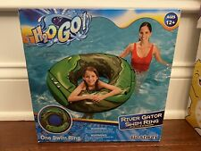 """Bestway H2o Go Inflatable River Gator Swim Ring LARGE SIZE 47"""" w/ Grab Rope New"""