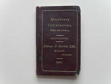 Machinery Calculations- Dobson & Barlow - Great Machine Illustrations, Rare,1887