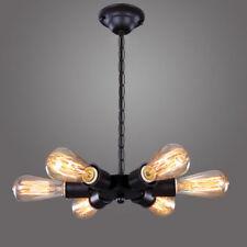 Artículos de iluminación de techo de interior de color principal negro dormitorio 4-6 luces