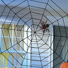 1.5m Giant Halloween Horror Party Black Rope Spider Web Outdoor Decoration