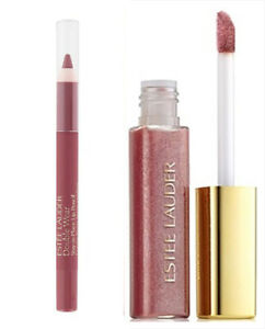 Estee Lauder Lip Pencil and Gloss - Colors: Rose and Reckless Bloom - Nudes