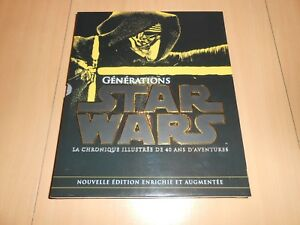 gros livre GENERATIONS STAR WARS 40 ans d'aventures + tirages collector - neuf