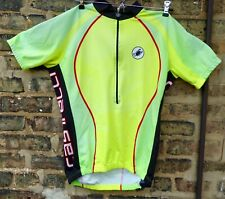 Castelli Cycling jersey, high visibility, neon colors, slightly 90's inspired