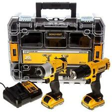 DEWALT DCK211D2T 10.8V Li-ion Cordless Compact Drill Driver and Impact Driver Twin Pack - Black/Yellow   Type a message here