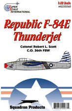 F-84E Thunderjet: Flying Tiger Robert Scott (1/32 decals, Superscale 320260)