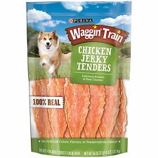 New !  6 X 36 oz  Waggin Train Chicken Jerky Dog Treats