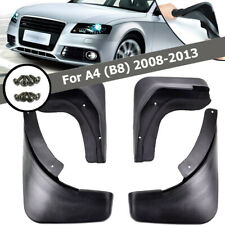 MOLDED MUDFLAPS FIT FOR AUDI A4 B8 SEDAN  08~13 SPLASH GUARDS MUD FLAP MUDGUARDS