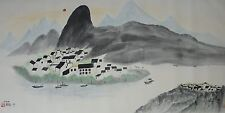 Excellent Chinese Scroll Painting By Wu Guanzhong  JP-009 吴冠中