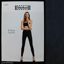 WOLFORD VELOUR MIDNIGHT LEGGINGS SIZE 36 UK 8 SUEDE EFFECT RRP £225