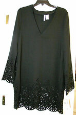 Kenneth Cole Black with Cut Outs Swimsuit Coverup Sz S/4,5,6 Retail $58