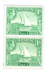 Aden, Kgvi 1939. Sc#24. Pair. Mint Never Hinged. Scv$20. Fresh & Clean!