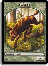 5x JETON Loup 2/2 - Wolf 2/2 MTG MAGIC Lor Ita