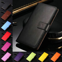 For Huawei P40 Pro P30 P20 P10 Lite Genuine Leather Wallet Cover Flip Stand Case