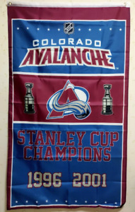 Colorado Avalanche Stanley Cup Champions Flag 3X5 FT NHL Banner Polyester FAST S
